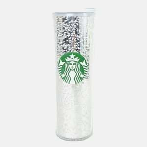 Starbucks silver bubbly holiday hot cold tumbler
